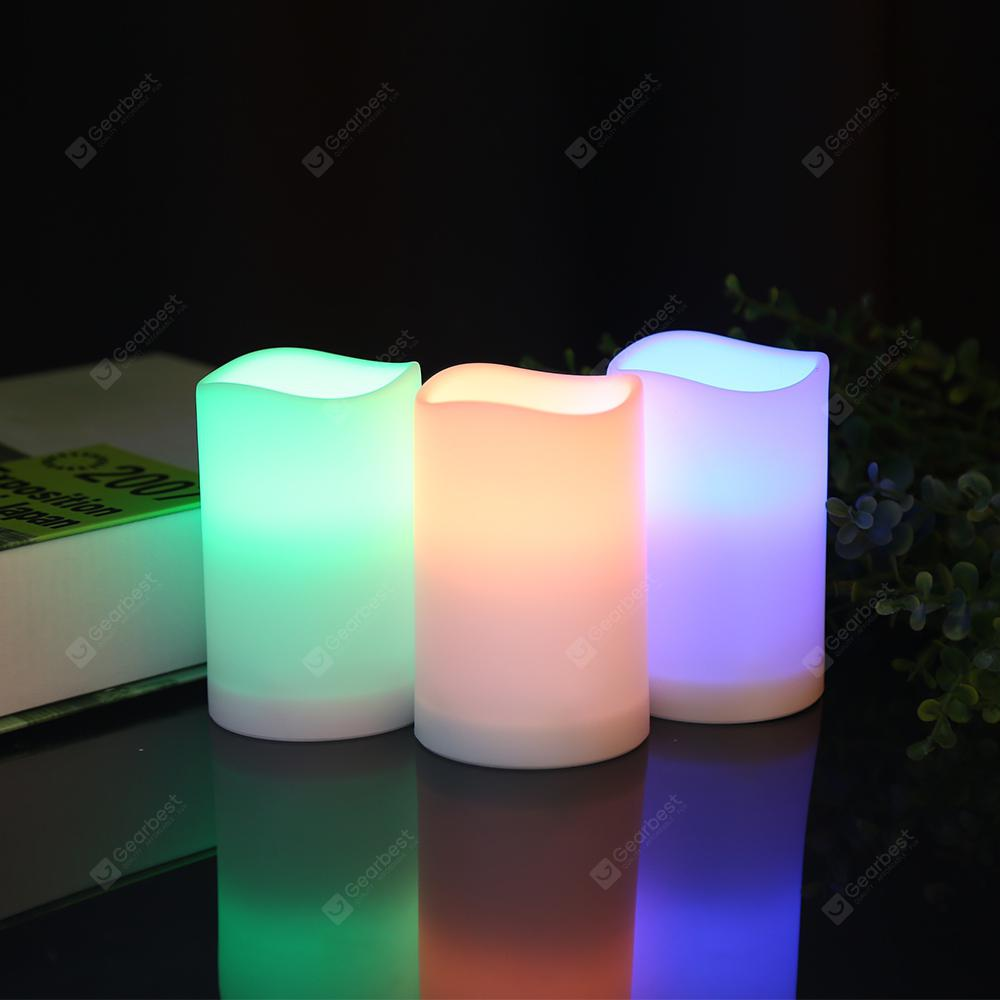 Smart Remote Control Candle LED Light - White