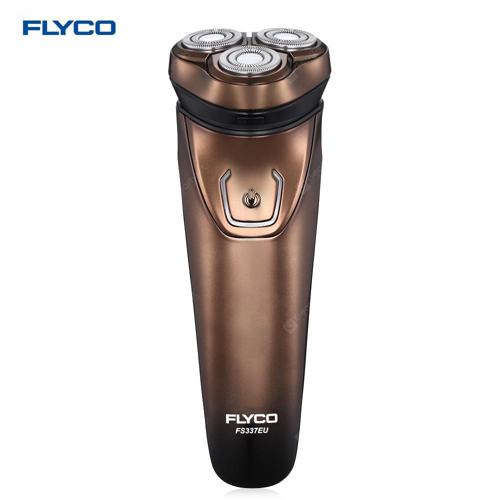 FLYCO FS337EU 3D Floating Revolving Shaver Washable Body Pop-up Trimmer for Men - CAPPUCCINO EU PLUG