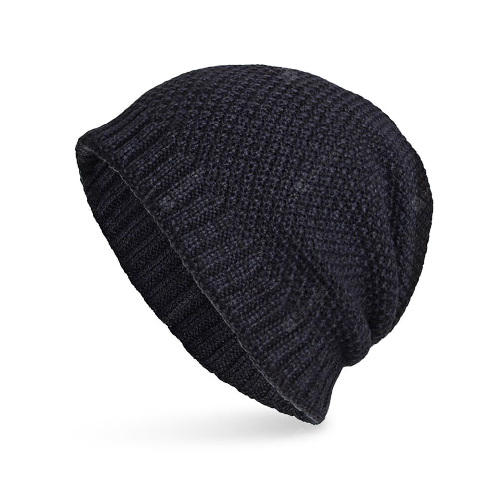 cc82ec9f3e6 Knitted Wool Cap Fluff Inside Corn Niplet Pullover Casual Outdoor Hat ...