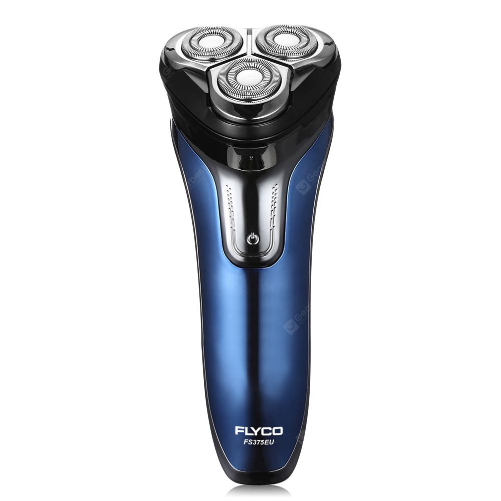 FLYCO FS375EU Electric Rechargeable Shaver Wet Dry Rotary Razor for Men - BLUE