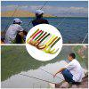 A FISH LURE Knife Tail Soft Worm Fishing Lures Baits 8pcs - BEE YELLOW