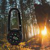 DC27 3-in-1 Double Sided Mini Compass Carabiner Thermometer for Outdoor - BLACK