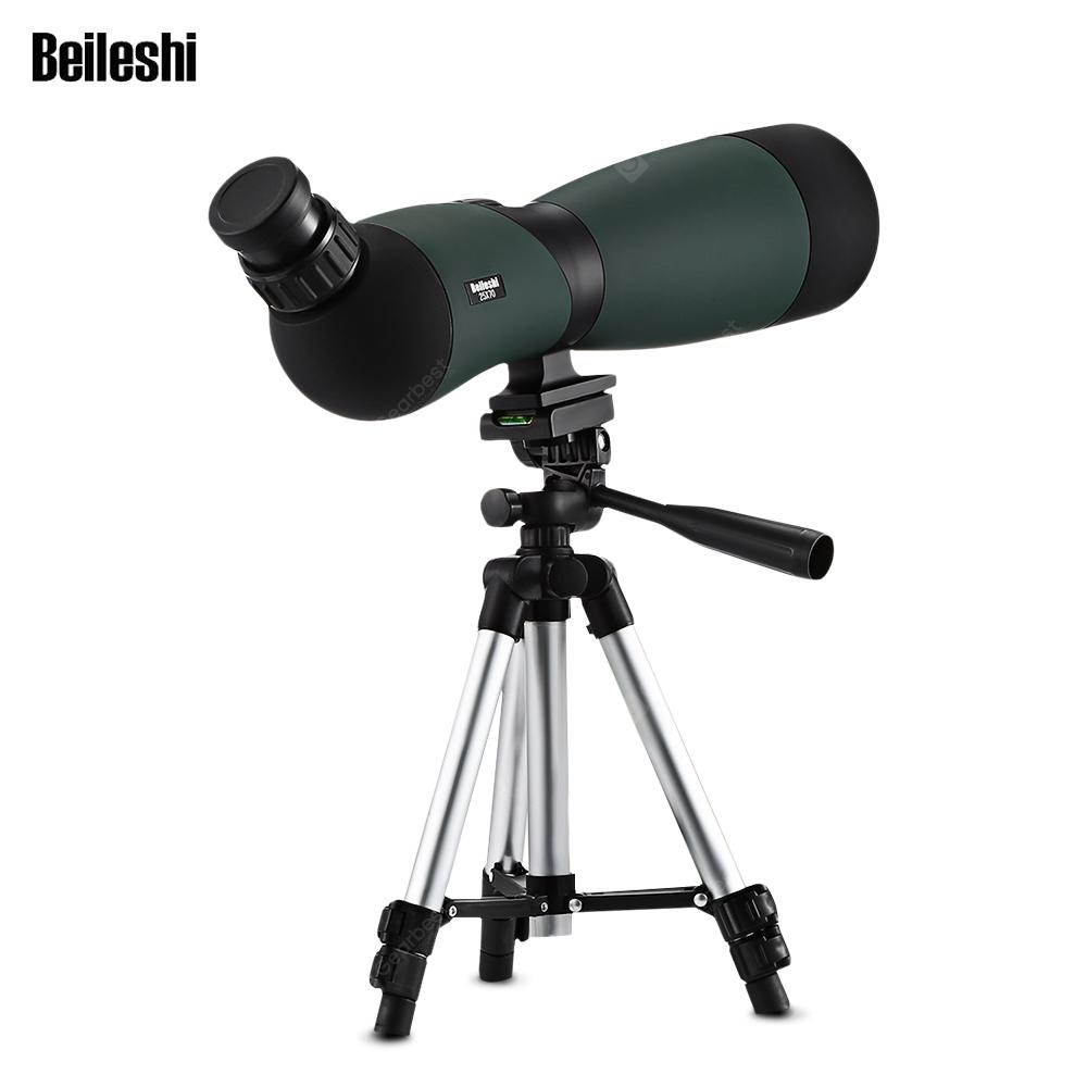Beileshi 25x70 Spotting Scope Telescope Monocular Bak4 Prism with Tripod - Army Green