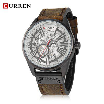 CURREN 8299 Male Automatic Machinery Water-resistance Business Watch