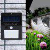 20-LED Wireless Motion Sensor Solar Light Wall Lamp for Corridor Hallway Gate Courtyard - BLACK