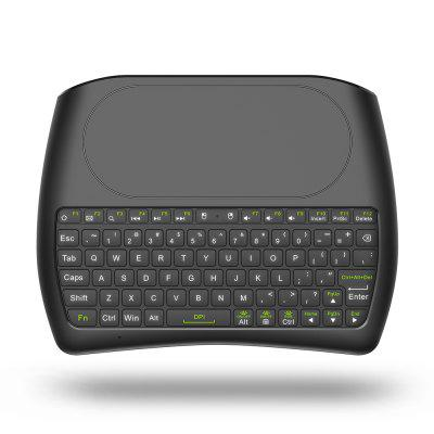 D8 Portable Wireless Mini Keyboard Touchpad with Colorful Backlight