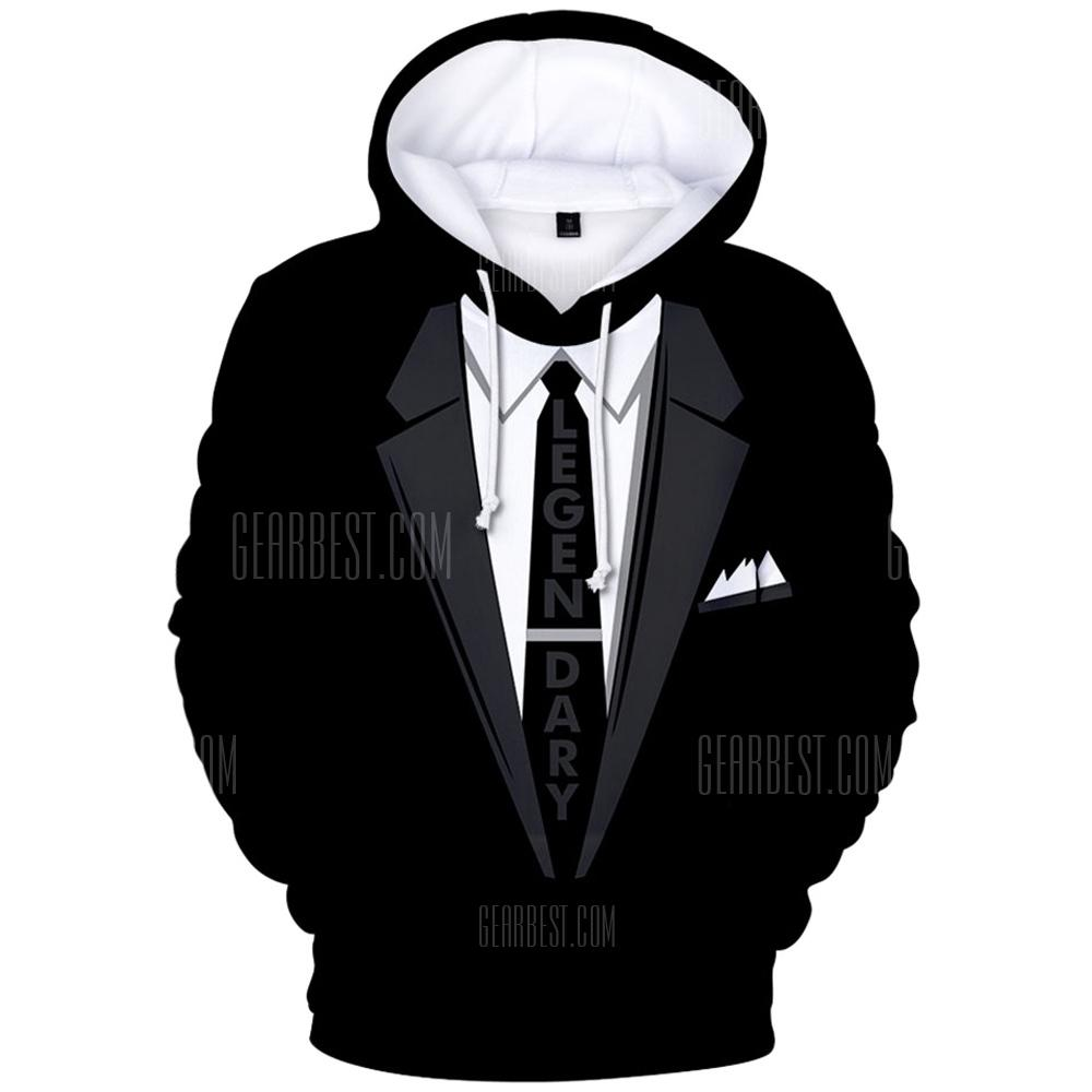 2018 New Suit Pattern 3D Hoodie - MULTI-A 4XL from Gearbest Image