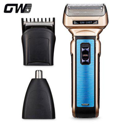 GW - 1007 3-in-1 Rechargeable Men Shaver Nose Trimmer Hair Clipper