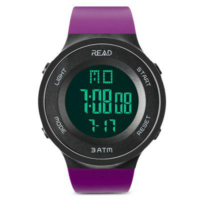 READ R90003 Männlich Digital Movement Watch Harzband Luminous Sports Armbanduhr