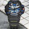 READ R90001 Männliche Uhr Dual Movement Luminous Resin Strap Sport Armbanduhr - MULTI-A