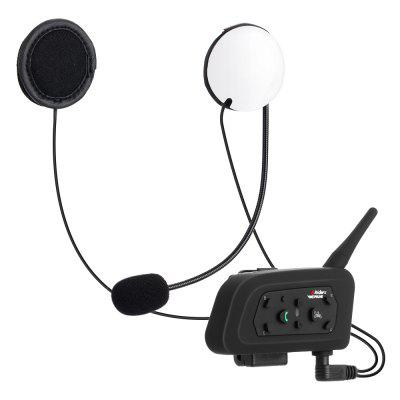 VNETPHONE V6 - Casque de Moto avec Bluetooth 3.0 Interphone 1200M 2 pièces