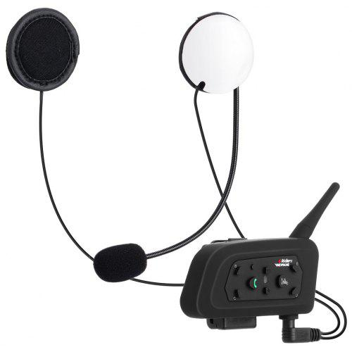 VNETPHONE V6 - 1200M Motorcycle Helmet Bluetooth 3.0 Intercom 2pcs