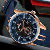 REWARD 63094 Male Quartz Movement Watch Silicone Strap Fashion Wristwatch - BLUE