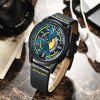 Curren 8298 Male Quartz Watch Calendar Stainless Steel Knit Band Wristwatch - MULTI