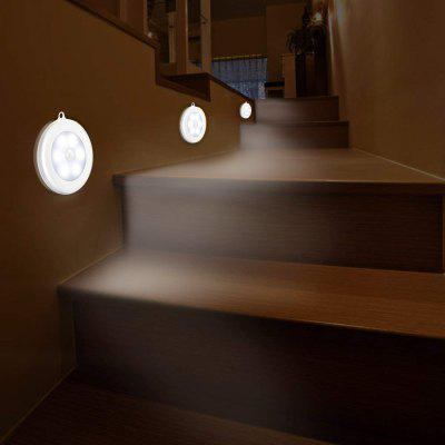 6 LEDs Motion Sensor Induction Night Light WHITE