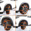 10PCS AutoLover 900AST Universal Car Tyre Anti-skid TPU Chains for Road Safety - ORANGE