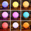 3D Printing Planet Light Night Lamp Romantic Remote Control for Bedroom - WHITE