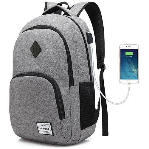 70ac1bbfc362 AUGUR Men Women Backpacks USB Charging Male Casual Travel Teenager Student  School Notebook Laptop Bag
