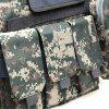 Amphibious Tactical Military Molle Waistcoat Combat Assault Plate Carrier Vest - ACU CAMOUFLAGE