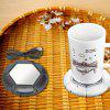 USB Desktop Cup Warmer Milk Tea Coffee Mug Heating Pad - WHITE