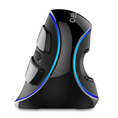 Delux M618 Plus Wired Vertical Mouse with Blue LED Light 1600DPI