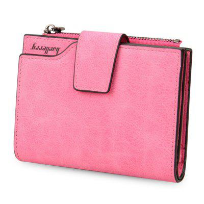 Baellerry Multifunction Frosted PU Leather Card Holder Short Clutch Wallet for Women