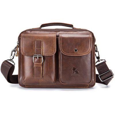 Vintage Leather Men Shoulder Bag