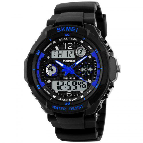 Skmei 0931 LED Sports Watch with Double Japan Movts Waterproof Design and  Plastic Watch Band 385034b533e