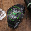 Skmei 0931 LED Sports Watch with Double Japan Movts Waterproof Design and Plastic Watch Band - GREEN