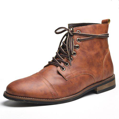 COSIDRAM Male British Boots for Autumn and Winter
