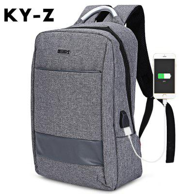 KY-Z USB Business Charge Port Rucksack Reise Laptoptasche
