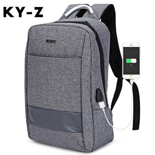c36302cacbdd KY-Z USB Business Charge Port Backpack Travel Laptop Bag