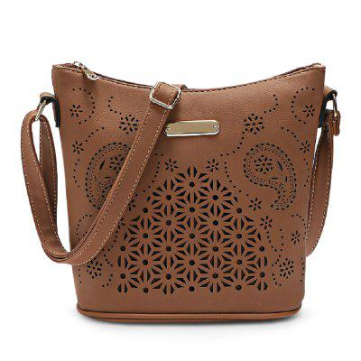 Guapabien Women Hollow Out Bucket Crossbody Shoulder Bag