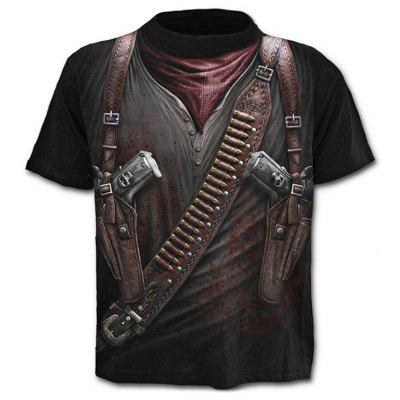 Men  's Casual 3D Criativa Imprimir mangas curtas T-shirt