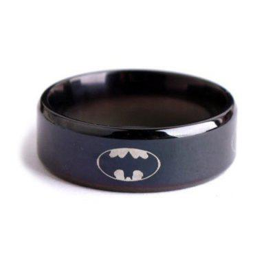 Černý Batman Titanium Steel Ring