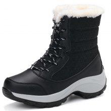 7b836698f77 1517 Fashion Snow Boots Women Thick Warm Base Thick Cotton Shoes Students  Waterproof Winter Boots High