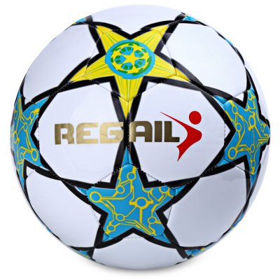 Regail Size 5 PU Machine Sewn Five-pointed Star Football