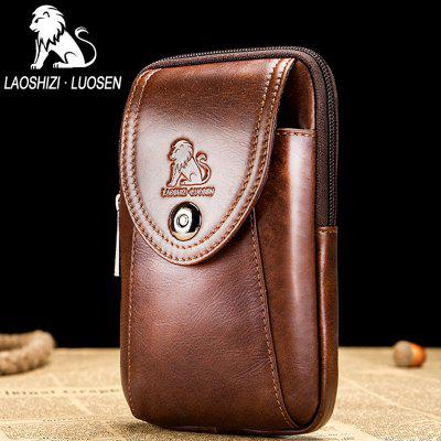 2018 New Design LAOSHIZI LUOSEN Men Bags Famous Brand Design Genuine Leather Chest Bag