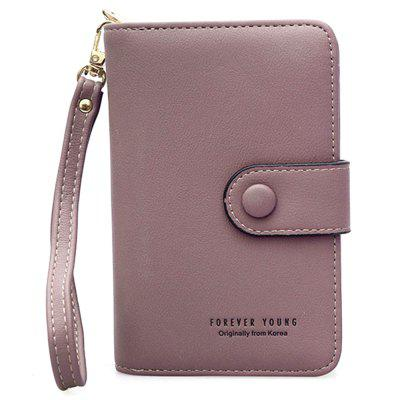 Woman Wrist with Japanese Korean Pure Color Eighty Percent Off Zipper Hand Carry Wallet