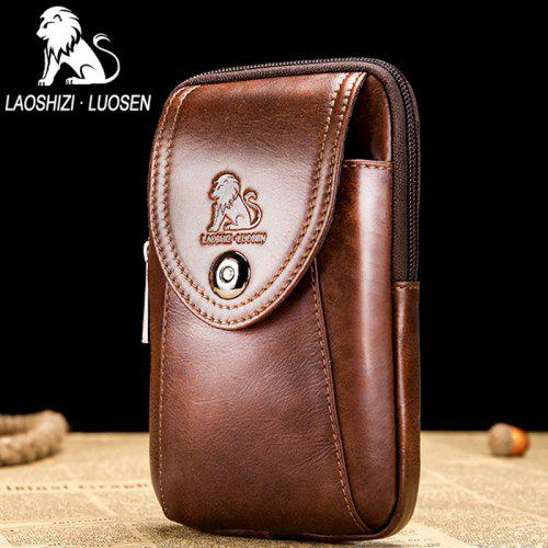 14ac0ef1c2c9 2018 New Design LAOSHIZI LUOSEN Men Bags Famous Brand Design Genuine Leather  Chest Bag