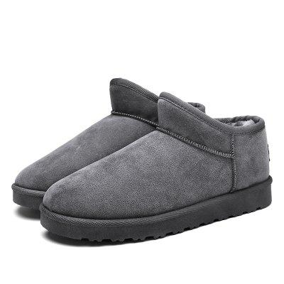 Uomo Casual Winter Warm Rubber Trend per la moda in cotone scamosciato Slip on Shoes