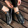 Men Leather Shoes Outdoor Sport Big Size Anti-Skid Tourism Sneakers - BLACK