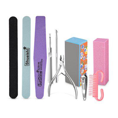 Professional Manicure Pedicure Tools Kit for Salon Nail Clipper Cuticle Pusher