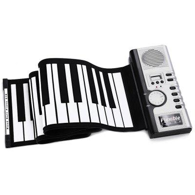 Flexible 61 Keys Silicone Roll-up Keyboard Piano