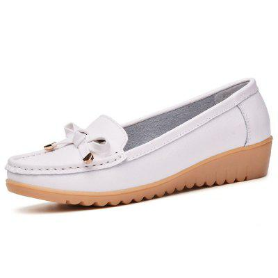 Womens Casual Light Weight Flat Leather Loafers Shoes