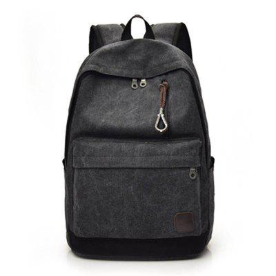 Backpack Canvas Travel Bag Male