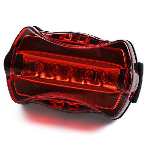 5Led Plastic Tail Rear Safety Flash Light Lamp Red For Bicycle Bike Cycling HOT