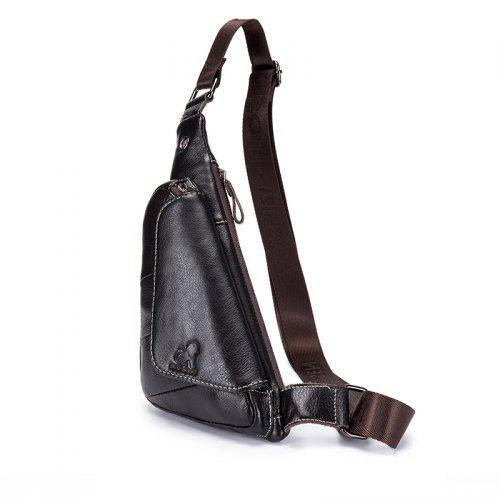2199c0d4264a LAOSHIZI LUOSEN 2018 New Design Men Genuine leather Cowhide Travel Shoulder  Sling Day Pack Chest Bag -  25.02 Free Shipping