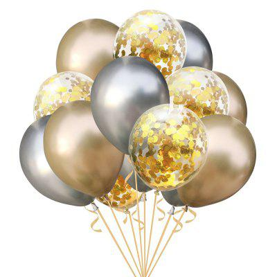 15pcs Mixed Confetti Latex Balloons Party Birthday Decoration