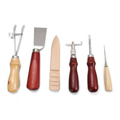 6pcs Stitching Carving Sewing Leather Craft Punch Tools
